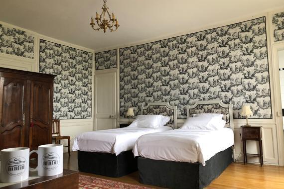 Vue de la chambre d'hôtes de la Fresnaye
